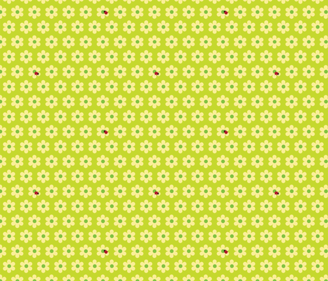 ladybug green fabric by slothdaddy on Spoonflower - custom fabric
