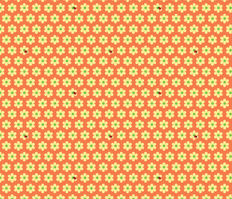 ladybugs red fabric by slothdaddy on Spoonflower - custom fabric