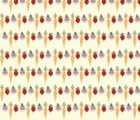 Carrots & Such fabric by theladyinthread on Spoonflower - custom fabric