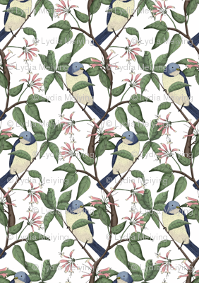 Bird Spotting White (Small Scale Print)