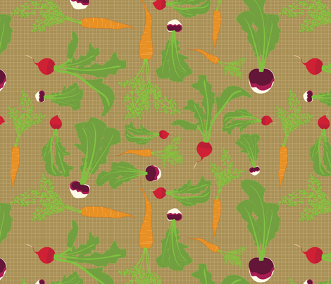 Root Veggies fabric by wildnotions on Spoonflower - custom fabric