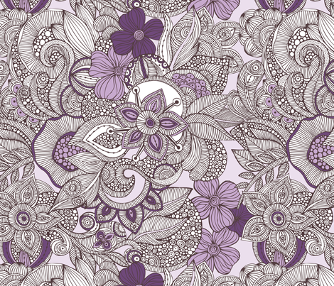 doodles purple and brown 02 fabric by valentinaramos on Spoonflower - custom fabric