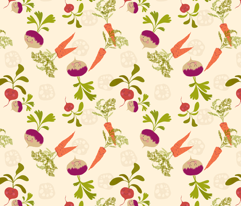 tuber_party fabric by seaurchinstudio on Spoonflower - custom fabric