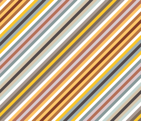 urban jungle diagonal stripe fabric by scrummy on Spoonflower - custom fabric