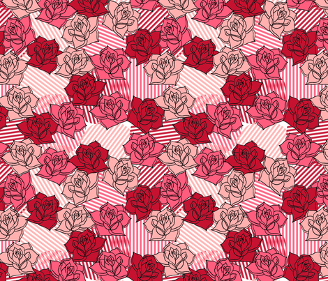 In Like the Rose fabric by leighr on Spoonflower - custom fabric