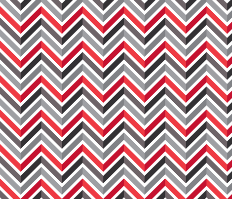 Mod Chevron (Thames Night) fabric by leighr on Spoonflower - custom fabric
