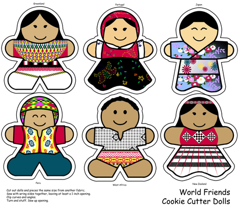 Cookie Cutter Dolls fabric by evenspor on Spoonflower - custom fabric