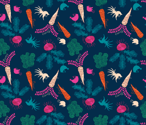 Pretty from the root up fabric by danielle_b on Spoonflower - custom fabric