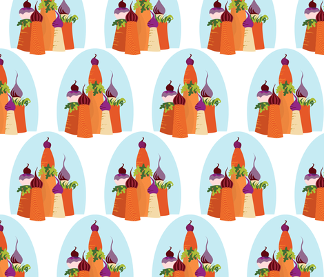 Carrot Castle fabric by meredithjean on Spoonflower - custom fabric