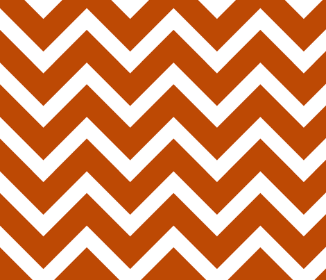 orange chevron large scale fabric by amybethunephotography on Spoonflower - custom fabric