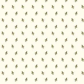Brown & Cream Fleur-de-lis