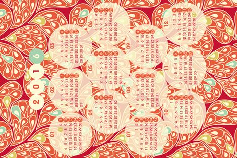 "2016 ""Splatsh!"" calendar fabric by mariao on Spoonflower - custom fabric"