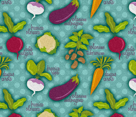 Vegetables fabric by cassiopee on Spoonflower - custom fabric