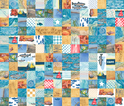 Boys' Blanket of Blessings (English) fabric by twobloom on Spoonflower - custom fabric