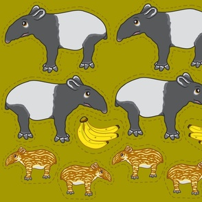 Tapir plushies