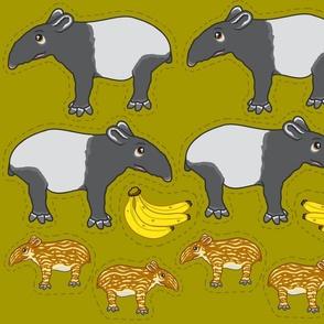 Tapir plushies