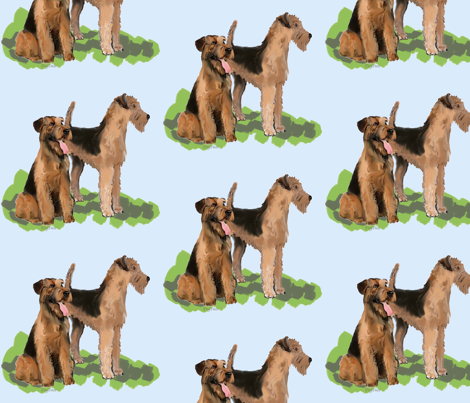 airedales fabric fabric by dogdaze_ on Spoonflower - custom fabric