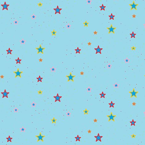 American Stars coord fabric by nekanen_designs on Spoonflower - custom fabric