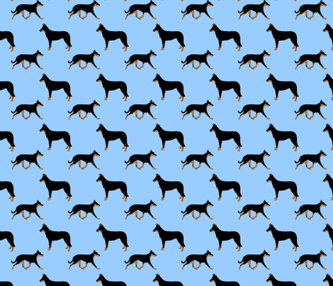 Basic Beaucerons - blue fabric by rusticcorgi on Spoonflower - custom fabric
