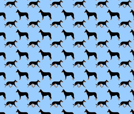 Basic Beaucerons - blue fabric by rusticcorgi on Spoonflower - custom fabric
