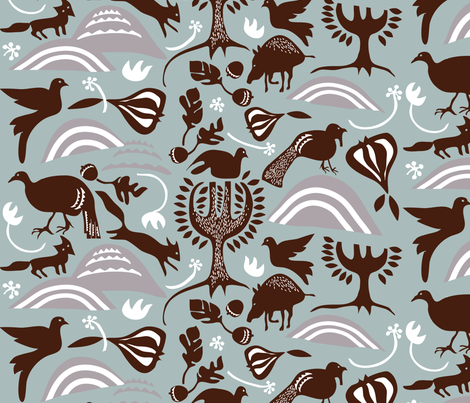 ROOTIN in STEEL & TOBACCO fabric by trcreative on Spoonflower - custom fabric