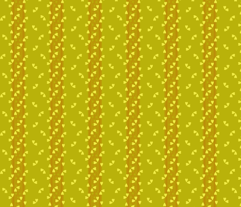Flutter Tree Lime Toast fabric by glimmericks on Spoonflower - custom fabric