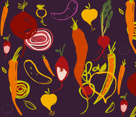 Farmers market fabric by fable_design on Spoonflower - custom fabric