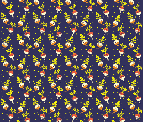 Sleeping radishes fabric by irrimiri on Spoonflower - custom fabric