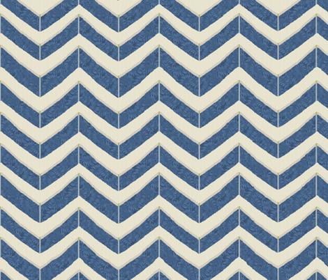 indigo herringbone fabric by littlerhodydesign on Spoonflower - custom fabric
