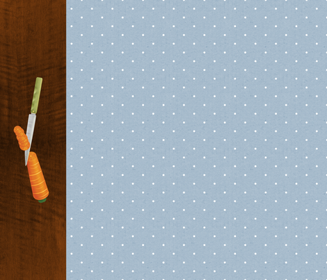 Country Kitchen Carrots fabric by amywtsn on Spoonflower - custom fabric