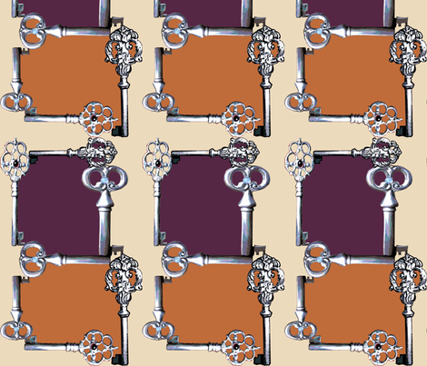 Key game_plum  fabric by gigimoll on Spoonflower - custom fabric