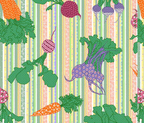 veggies fabric by beebumble on Spoonflower - custom fabric