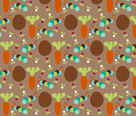 Caterpillar Muncha Muncha fabric by mayabella on Spoonflower - custom fabric