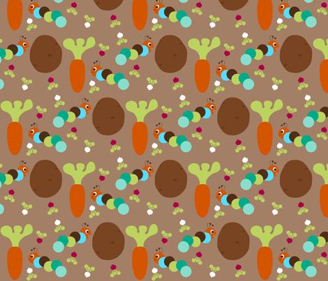 Caterpillar Muncha Muncha fabric by mayabella on Spoonflower - custom fabric