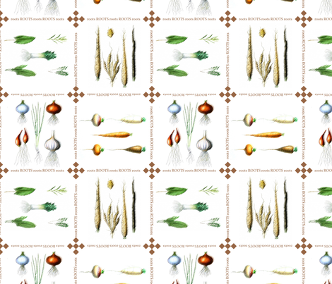 Roots fabric by suziwollman on Spoonflower - custom fabric