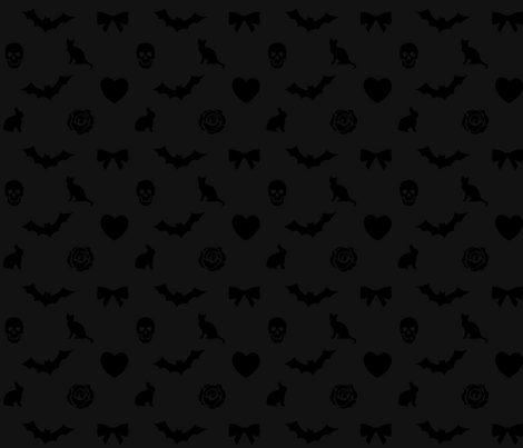 Gothic lolita Halloween Fabric fabric by themidnightcarousel on Spoonflower - custom fabric