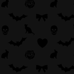 Gothic lolita Halloween Fabric