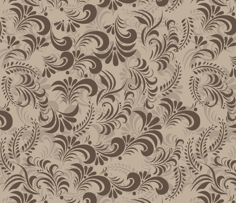 floral swirls fabric by anastasiia-ku on Spoonflower - custom fabric