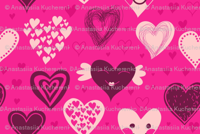 cute girly hearts