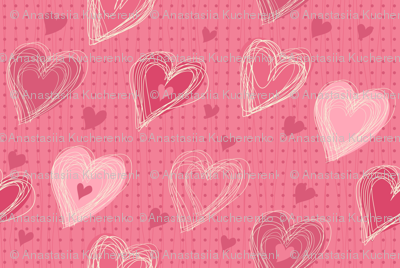 cute pink hearts
