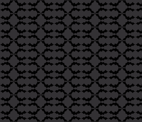 Bat pattern gray