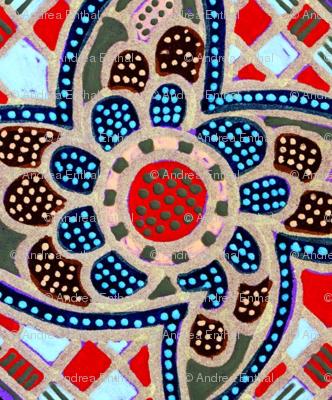 Checkerboard garden fabric edsel2084 spoonflower for Checkerboard garden designs