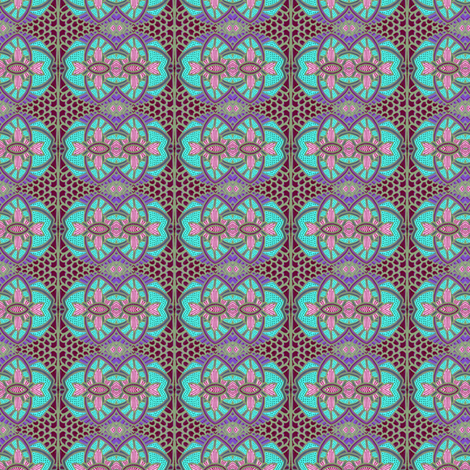 Grandmother's Steamer Trunk Lining fabric by edsel2084 on Spoonflower - custom fabric
