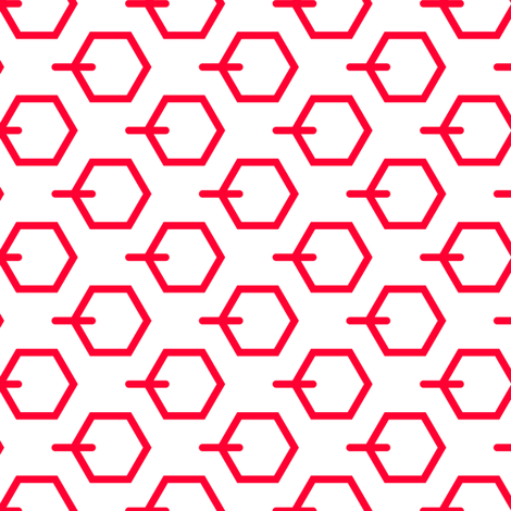 Tortoiseshell 3B (Vermilion) fabric by nekineko on Spoonflower - custom fabric