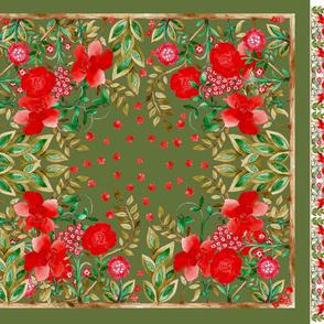 coupon foulard_jardin_fond_vert
