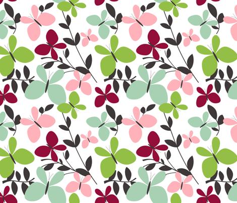 butterfly_garden fabric by emilyb123 on Spoonflower - custom fabric