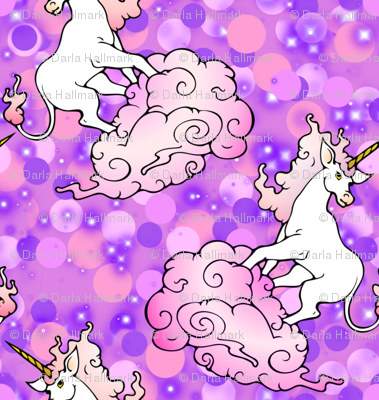 Unicorns and misty clouds
