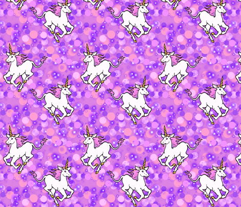 Galloping unicorns fabric by hannafate on Spoonflower - custom fabric