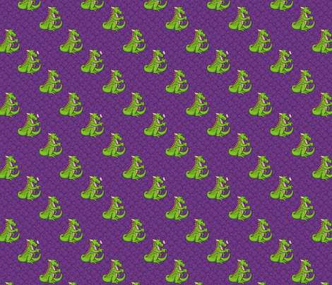 Vincent, the friendly dragon fabric by hannafate on Spoonflower - custom fabric