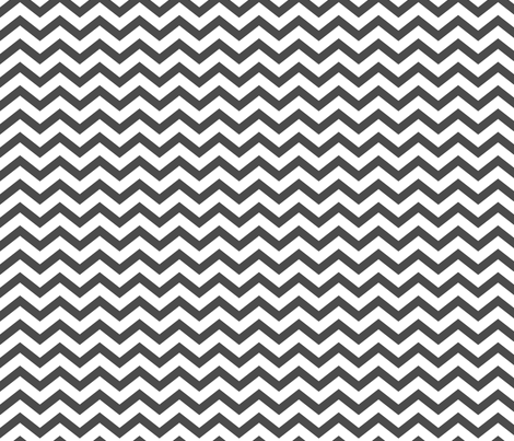 chevron dark grey and white fabric by misstiina on Spoonflower - custom fabric
